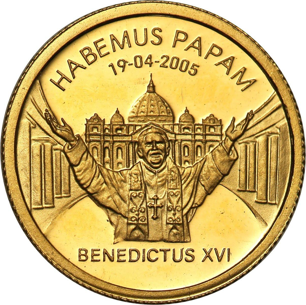 Liberia 25 dolarów 2005 Benedykt XVI st. L