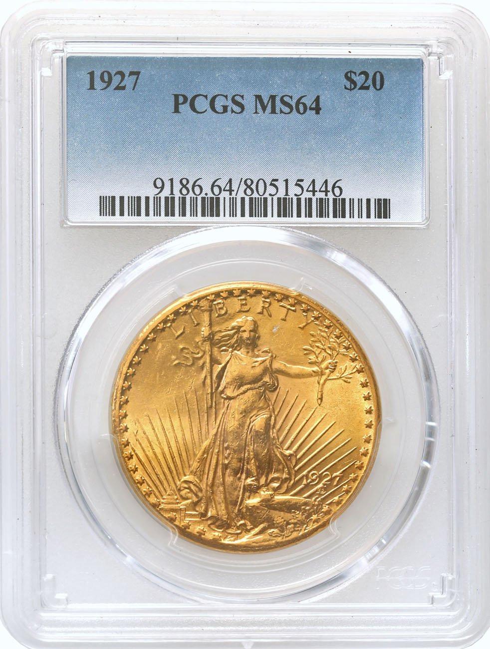 USA 20 dolarów 1927 Filadelfia PCGS MS64