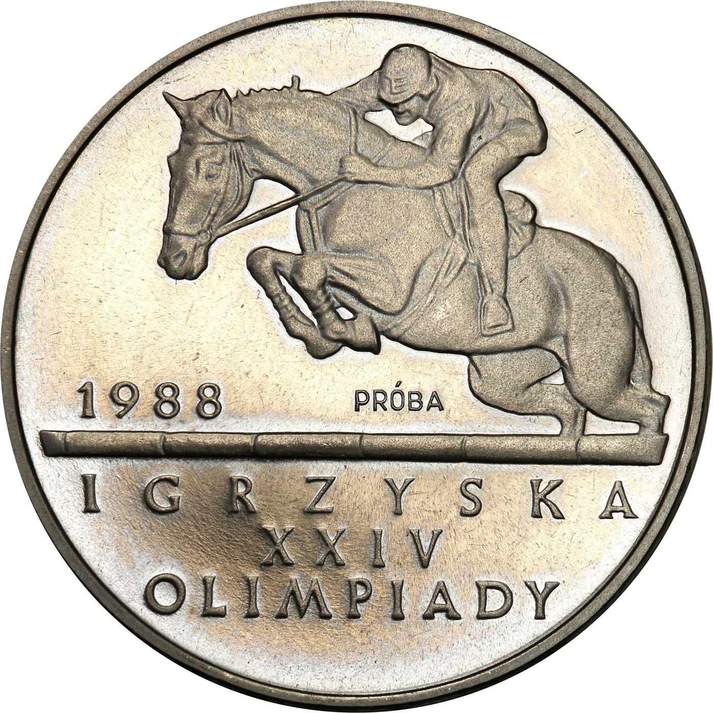 PRL. PRÓBA Nikiel 500 złotych 1987 – Igrzyska XXIV Olimpiady