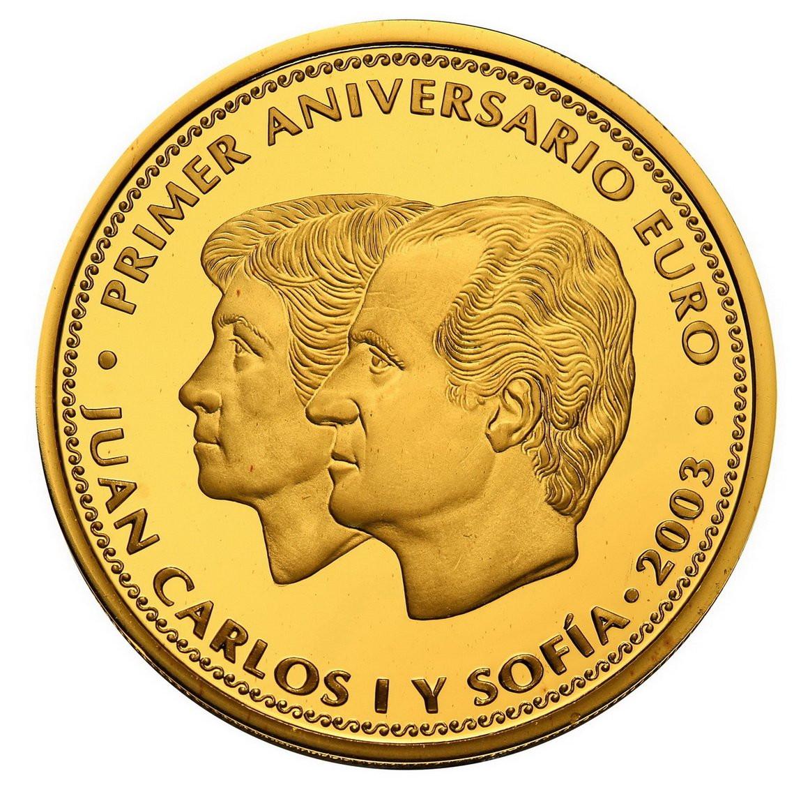 Hiszpania. 200 Euro 2003 Europa na byku
