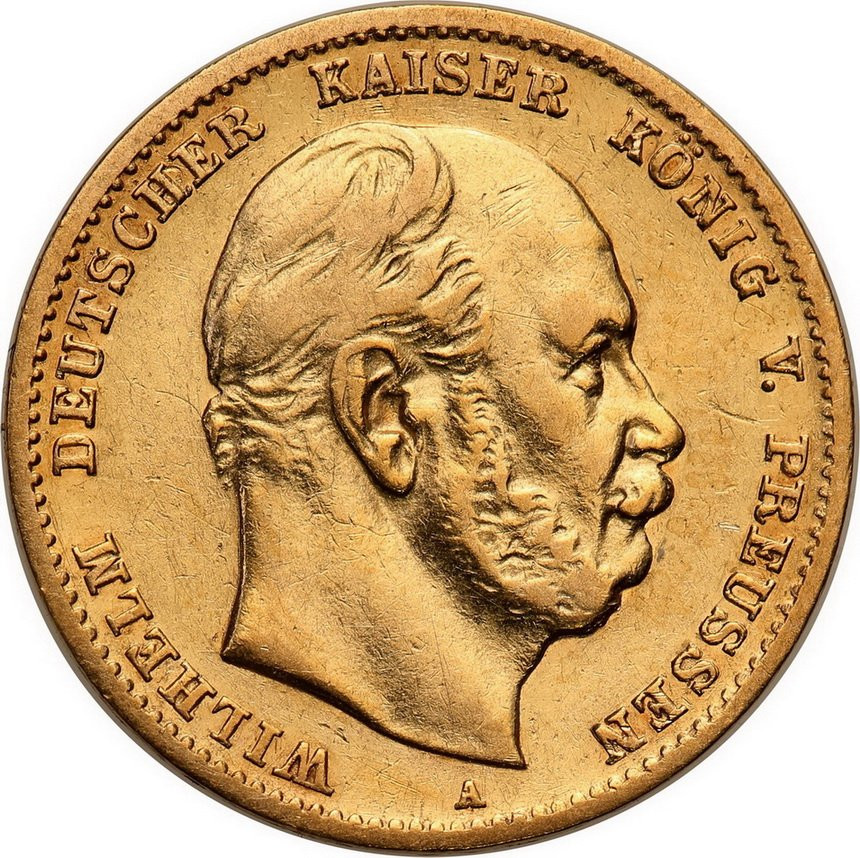 Niemcy Prusy 10 Marek 1872 A st.2