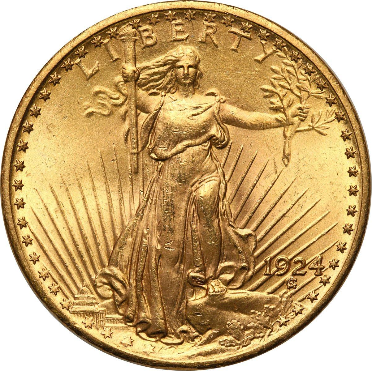 USA. 20 dolarów Saint Gaudens 1924 Filadelfia