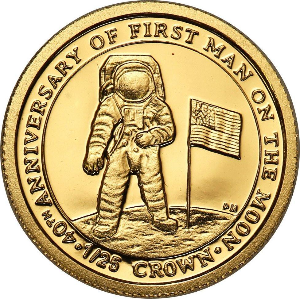 Wyspy Man'a 1/25 Korony 2009 Rocznica lądowania człowieka na księżycu