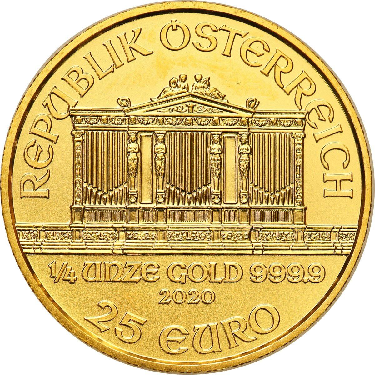 Austria 25 Euro 2005 Filharmonia - 1/4 uncji złota - st. 1