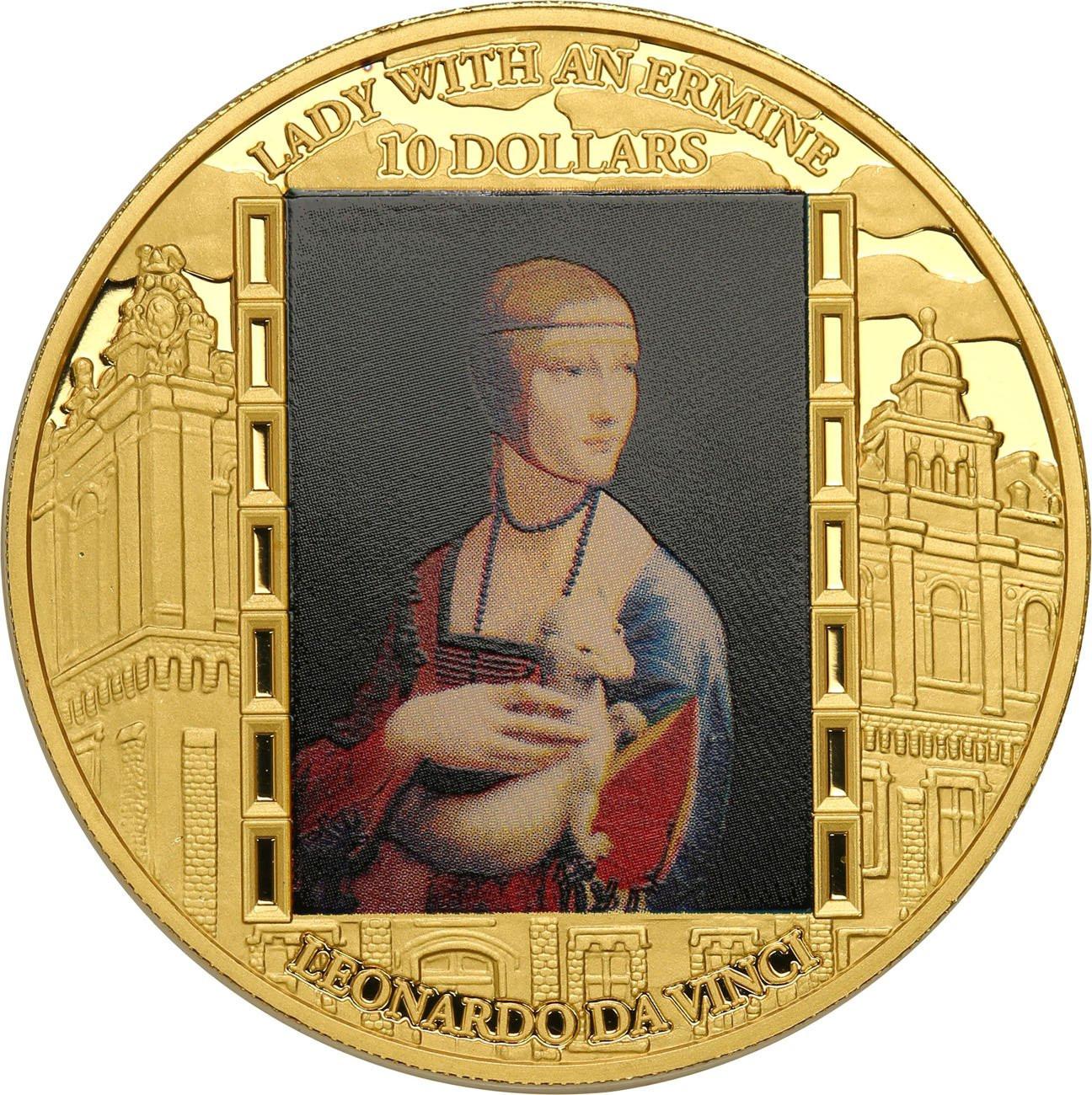 Fiji 10 dolarów 2015 Leonardo da Vinci TYLKO 100 SZT - Uncja Złota