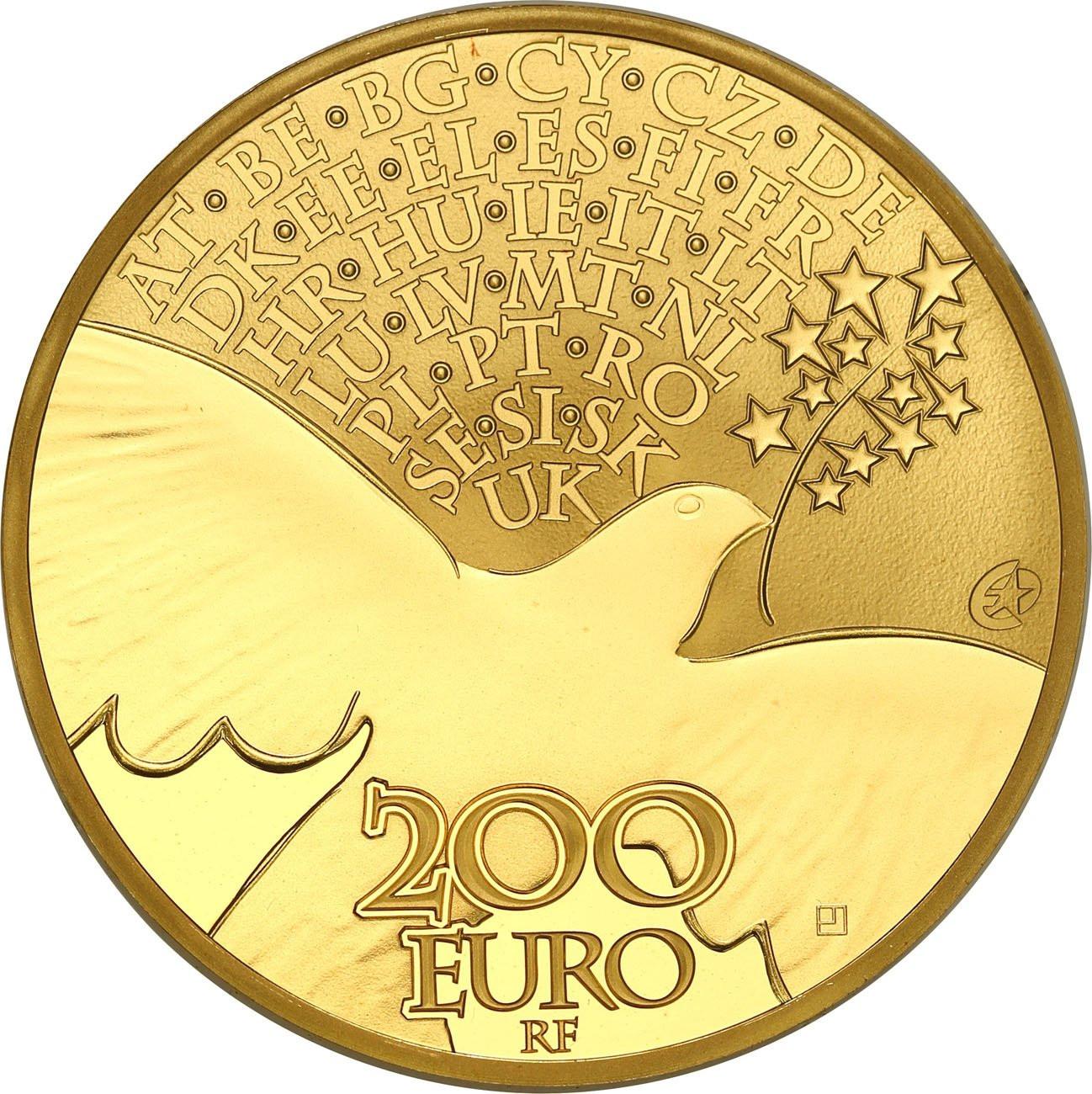 Francja 200 euro 2015 Europa TYLKO 500 szt - 1 Uncja złota