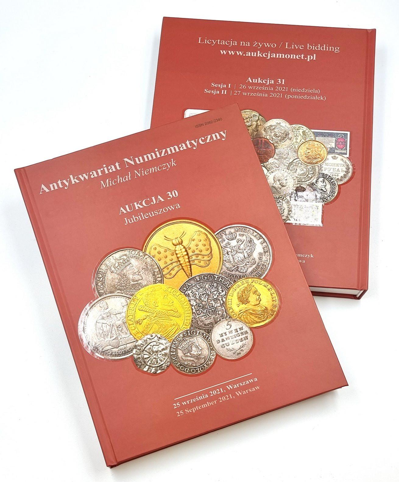 KATALOG Aukcja 30 Premium Niemczyk - 25 września 2021 - najrzadsze 819 numizmaty