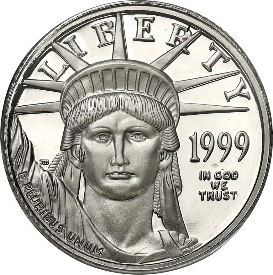 USA. 10 dolarów 1999 Statua Wolności - PLATYNA