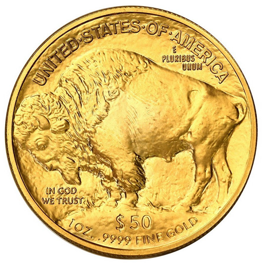 USA. Złote 50 $ dolarów 2017 Bizon (Buffalo) - 1 uncja złoto