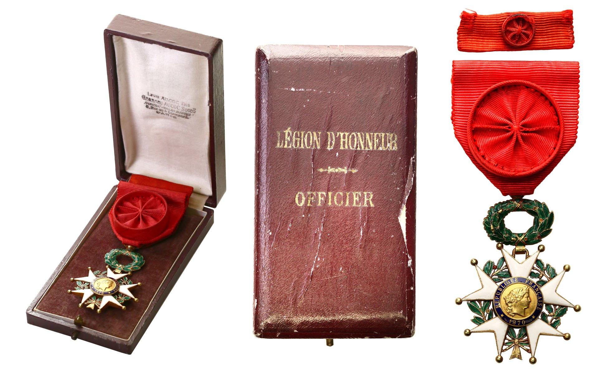 Francja Legia Honorowa Krzyż Oficerski ZŁOTO w pudełku