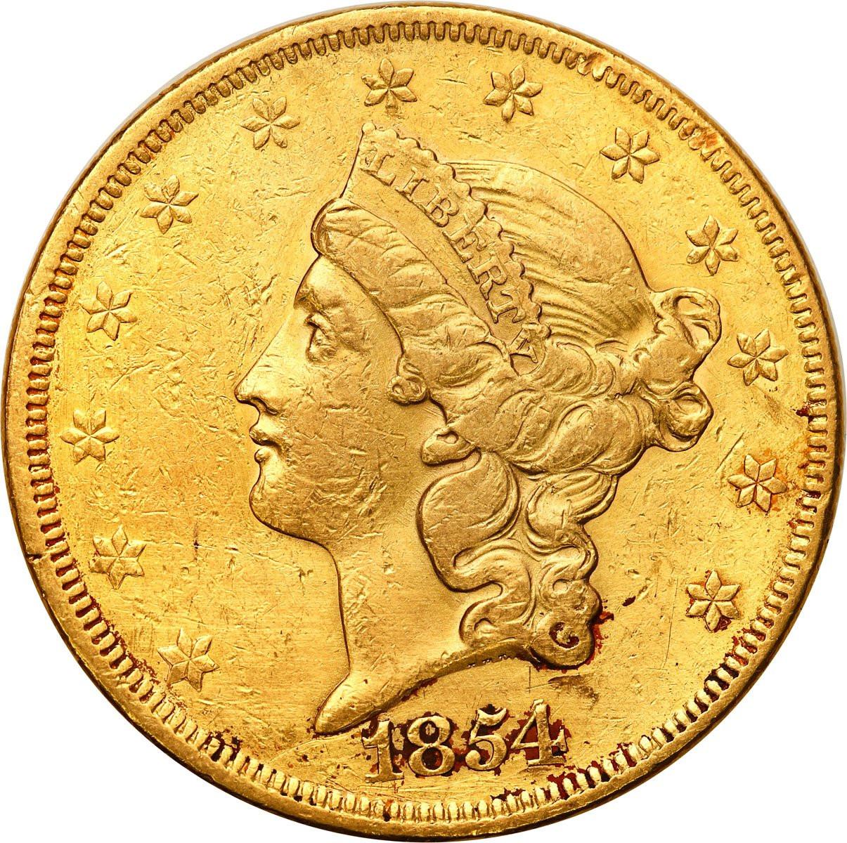 USA 20 dolarów 1854 Philadelphia