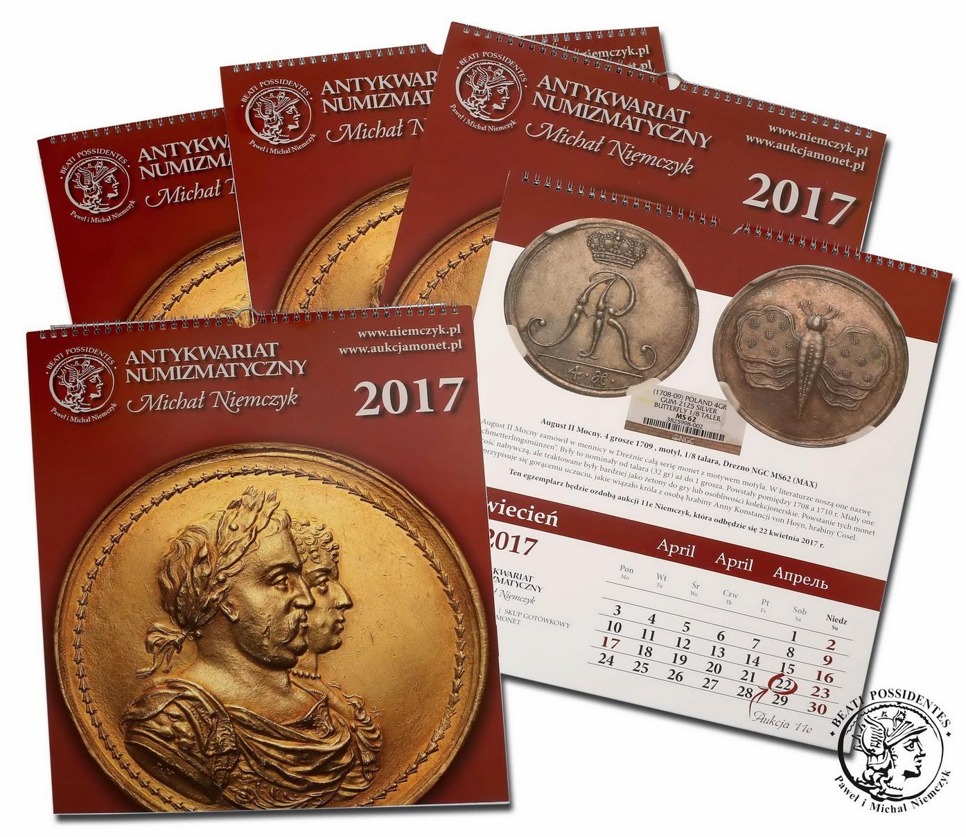 Kalendarz numizmatyczny 2017 - limitowana edycja! Kurier GRATIS
