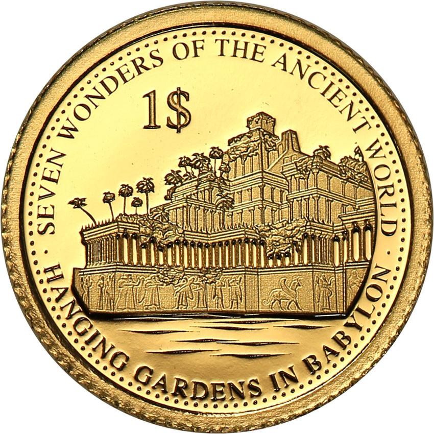 Wyspy Solomona 1 dolar 2016 Wiszące Ogrody w Babilonie st.L