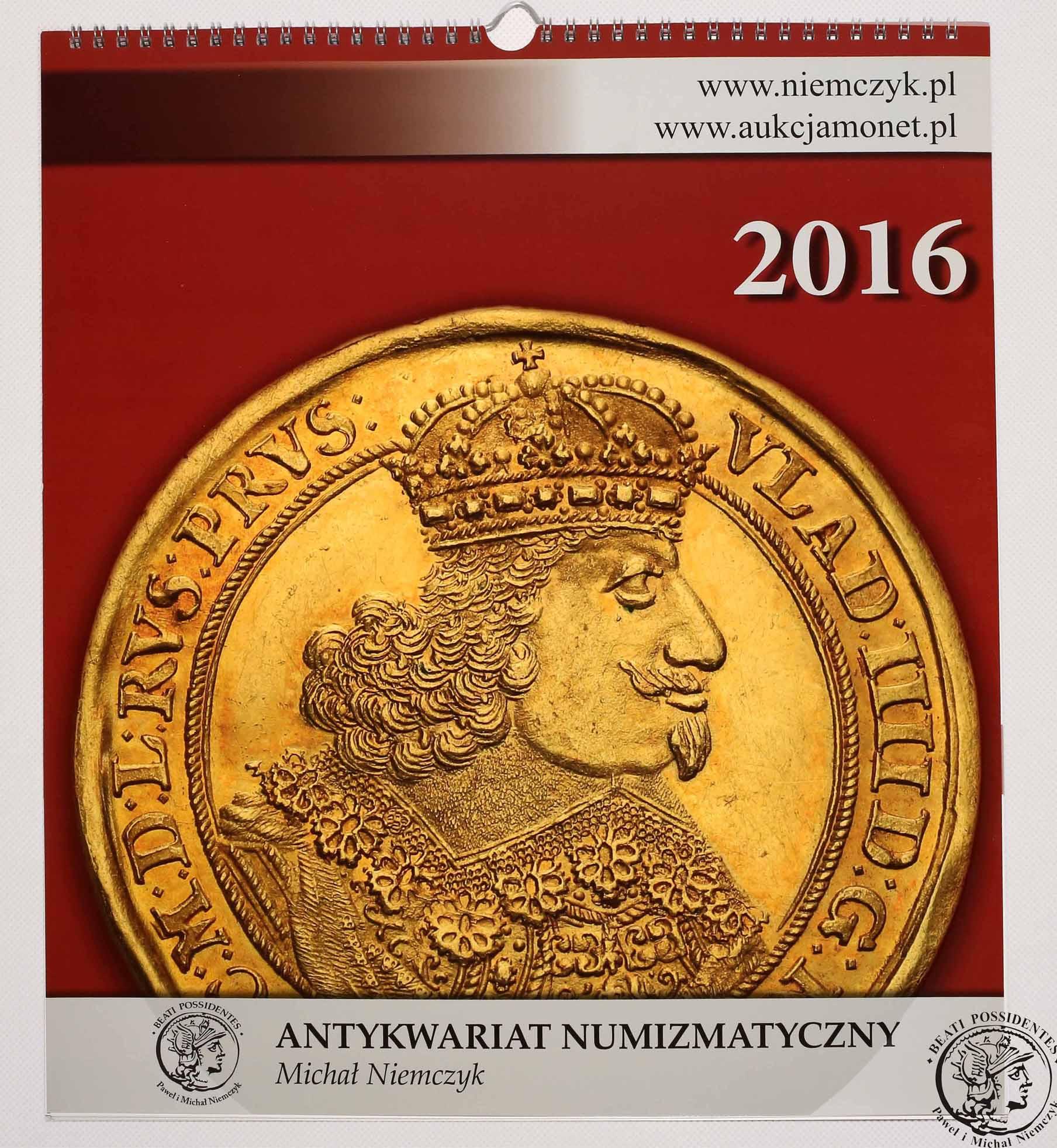 Kalendarz numizmatyczny 2016 - limitowana edycja! Kurier GRATIS