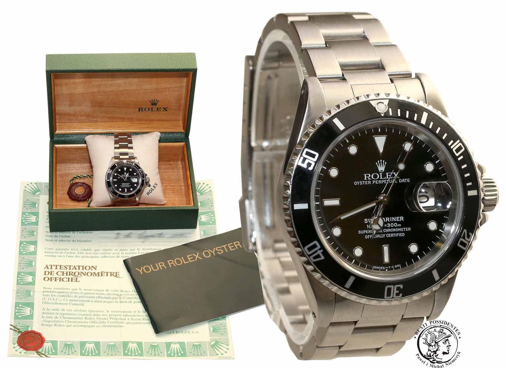 Zegarek Rolex Oyster Perpetual Submariner Date Czarny - Ref. 16610