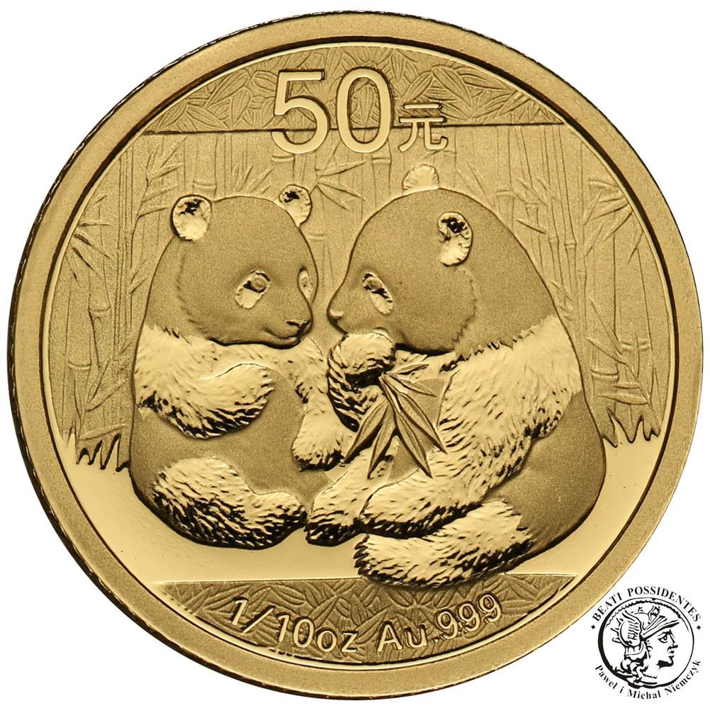 Chiny. 50 Yuan 2009 Panda - 1/10 uncji złota - st.L