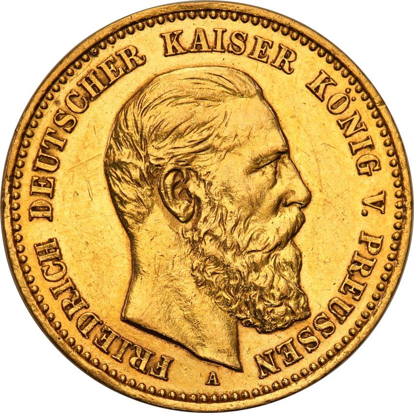 Niemcy Prusy 10 Marek 1888 A Friedrich III st. 2-