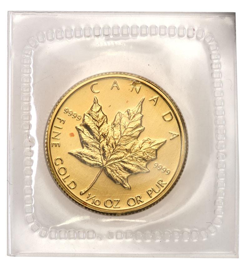 Kanada 5 dolarów 1987 liść klonowy (1/10 uncji złota) st.1