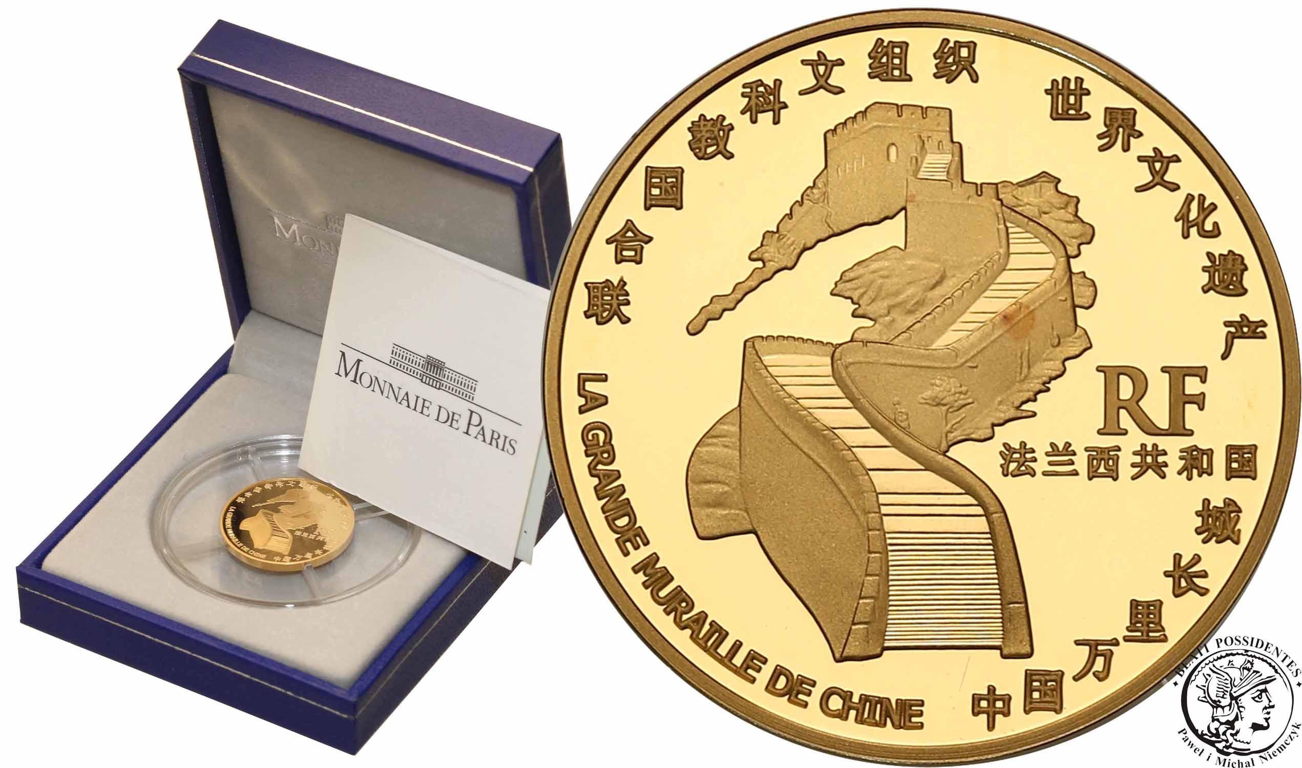 Francja 10 Euro 2007 Wielki Mur Chiński - 1/4 uncji złota