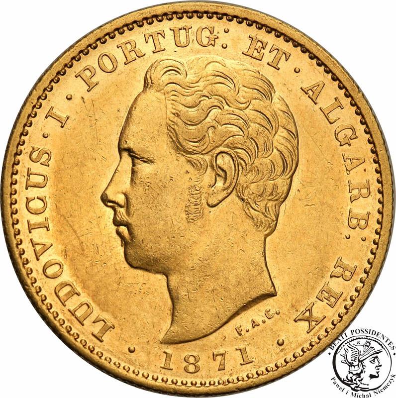 Portugalia 5000 Reis 1871 Louis I st.1/1-