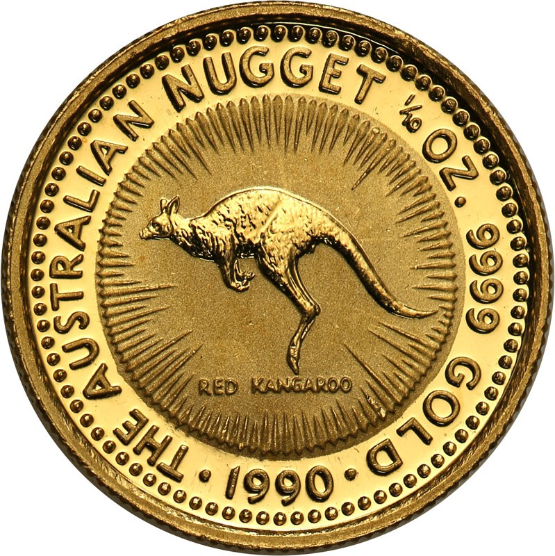 Australia 15 dolarów 1990 kangur 1/10 uncji złota st.L