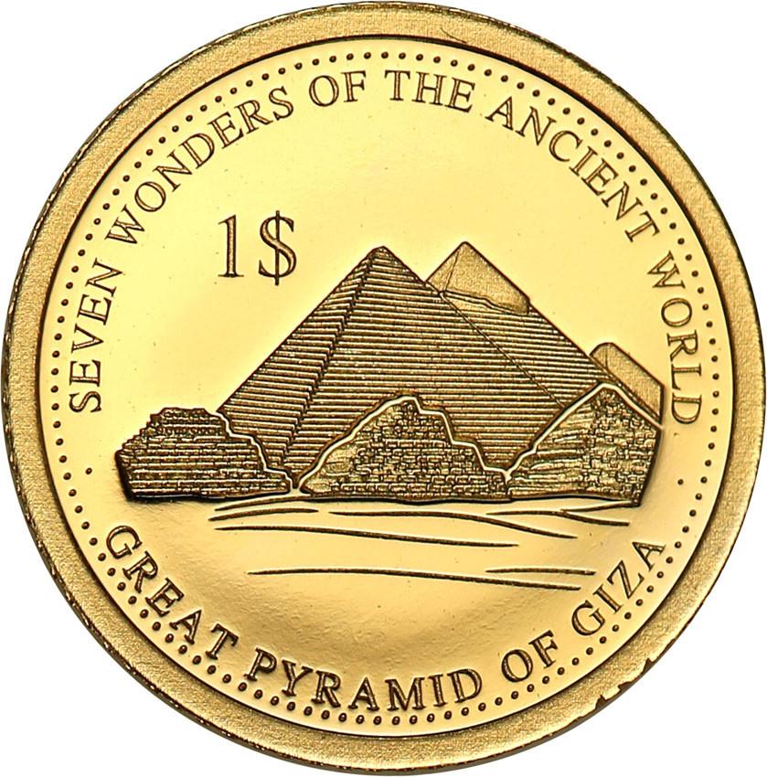 Wyspy Solomona 1 dolar 2016 Piramidy w Gizie st.L
