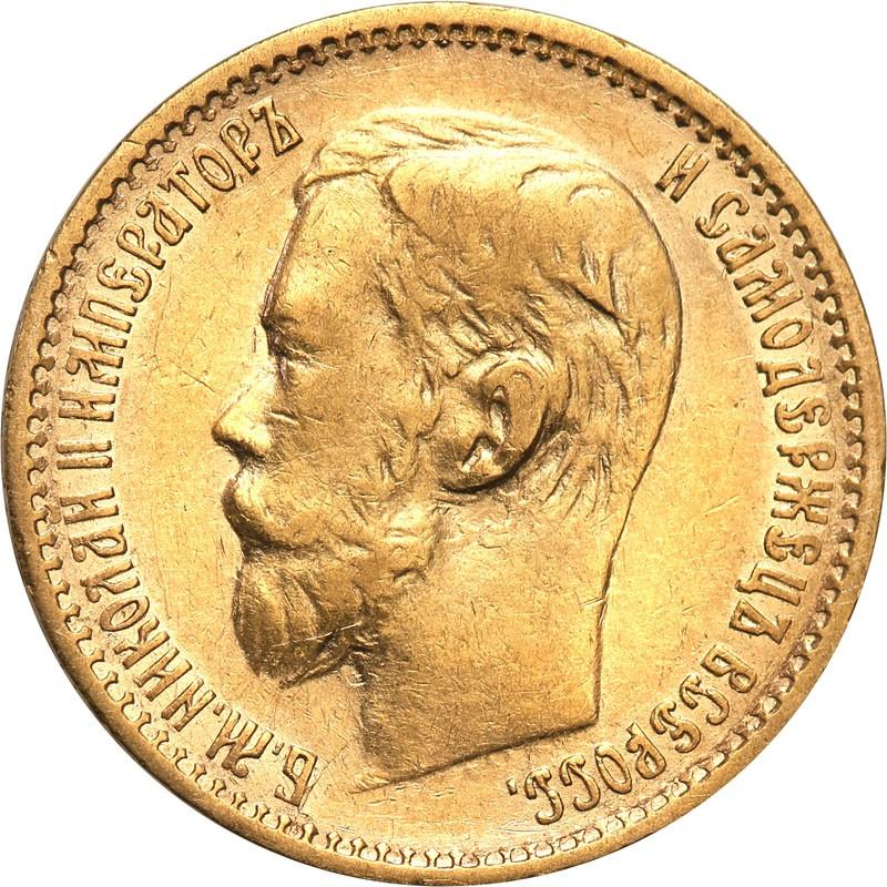 Rosja Mikołaj II 5 Rubli 1898 AG st.2+