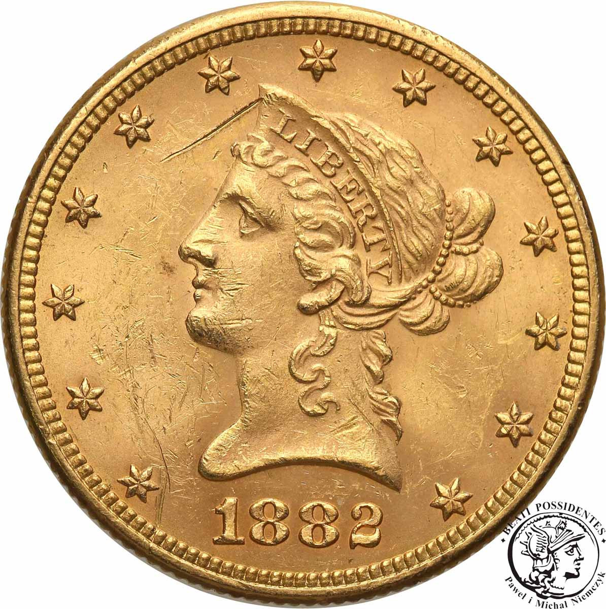 USA 10 dolarów 1882 Filadelfia st. 2+