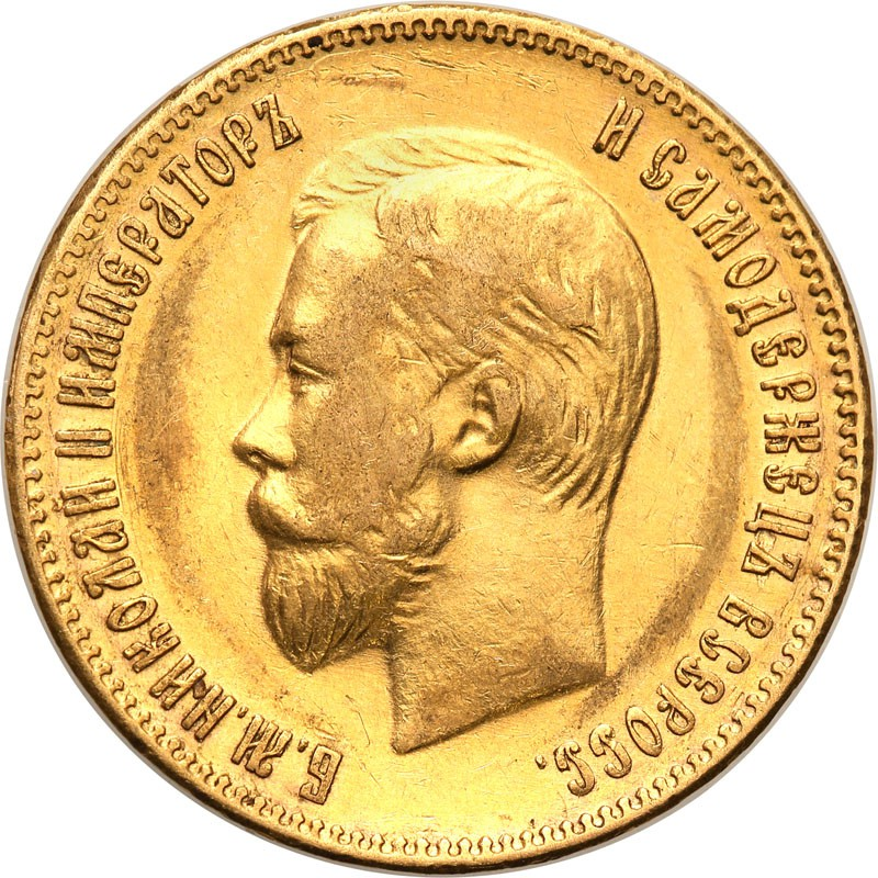 Rosja Mikołaj II 10 Rubli 1902 st.1-