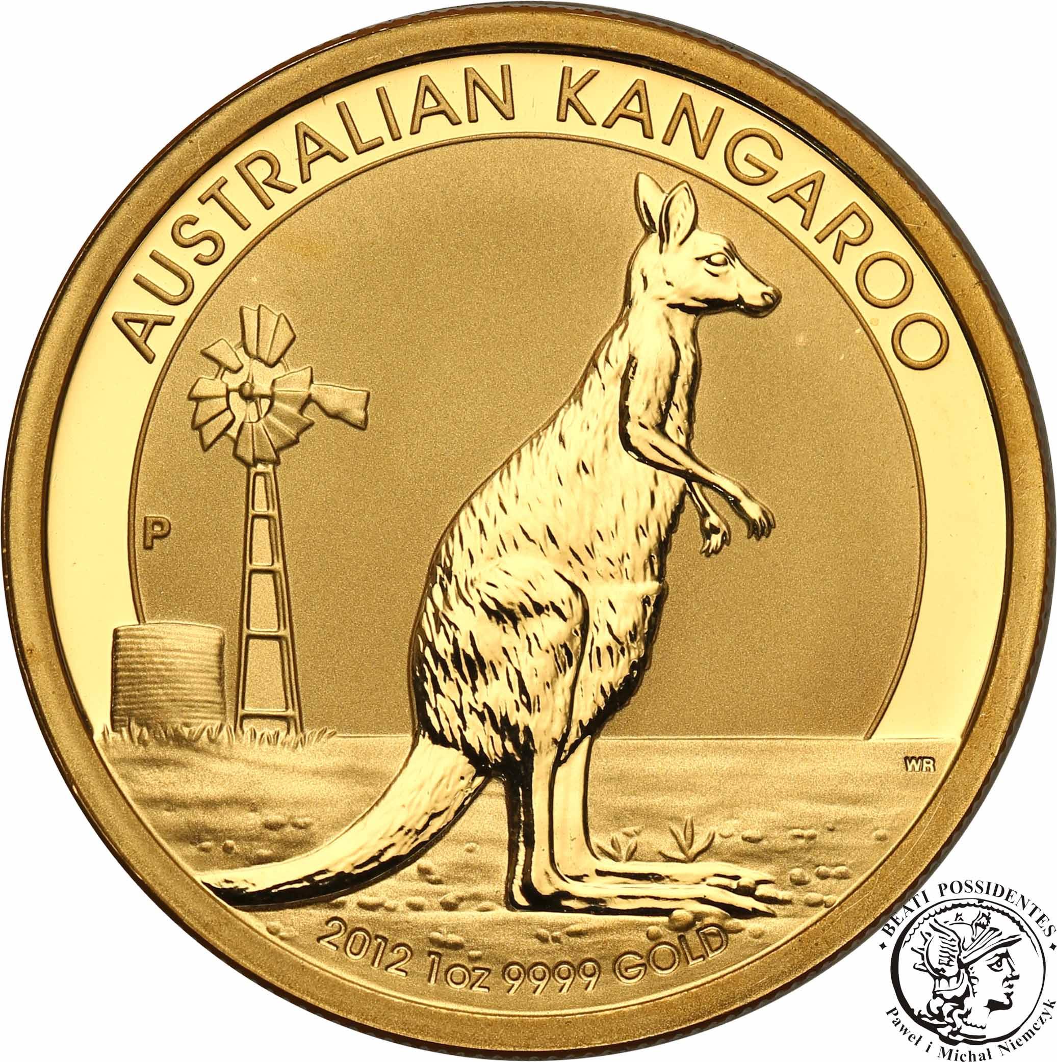 Australia Elżbieta II 100 Dolarów 2012 kangur st. 1 1 Oz Au