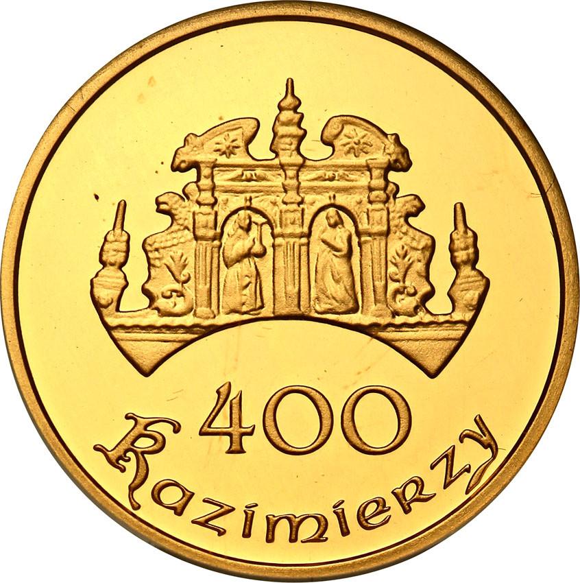 III RP 400 Kazimierzy 2008 ZŁOTO moneta lokalna - pieniądz zastępczy GCN PR69