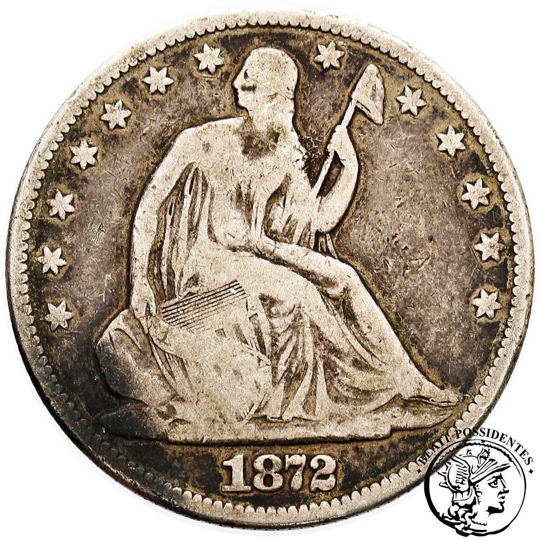 USA, 1/2 $ dolara 1872 st.3