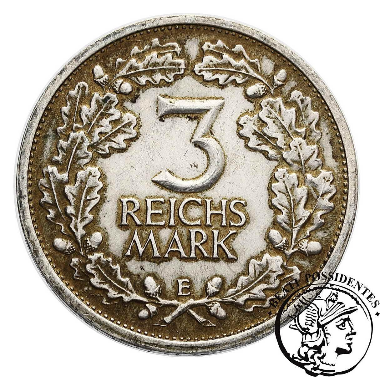 Niemcy, Weimar 3 Marki 1931 E ss/uz