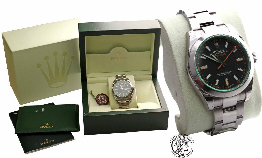 Nowy! Zegarek Rolex Milgauss Zielony - Ref. 116400
